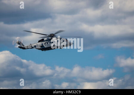 The Royal Canadian Air Force CH-148 Cyclone is a militarized version of Sikorsky's S-92 helicopter. It will fly - Stock Photo