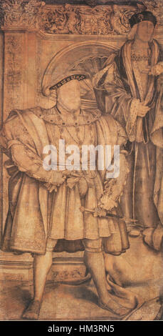 Henry VIII and Henry VII, by Hans Holbein the Younger - Stock Photo