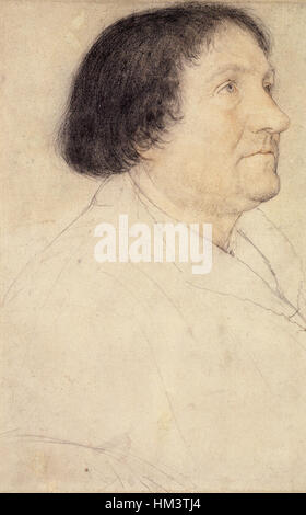 Jakob Meyer, chalk drawing by Hans Holbein the Younger - Stock Photo