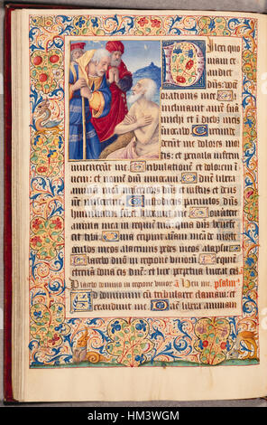 Jean Poyer - Leaf from Book of Hours - Walters W29542V - Open Reverse - Stock Photo