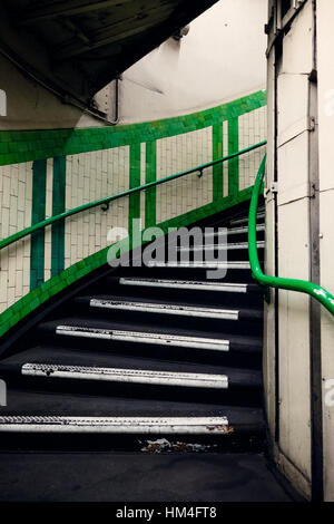 The 136 Step Emergency Spiral Staircase At Goodge Street