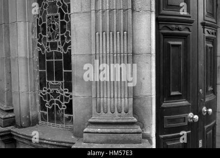 Old Carlisle and Cumberland Bank doors, Alston Cumbria - Stock Photo