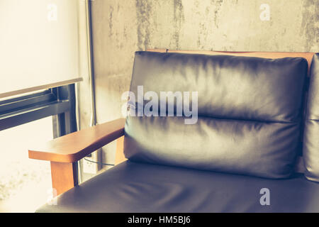 Chair near old wall ( Filtered image processed vintage effect. ) - Stock Photo