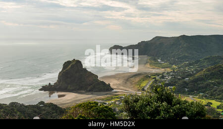 Piha Beach, near Auckland, North Island, New Zealand - Stock Photo