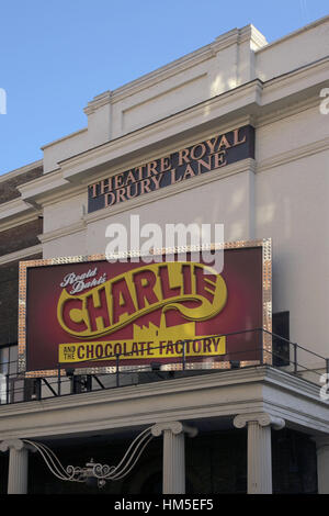 charlie and the chocolate factory theatre royal in drury lane in the west end of london - Stock Photo