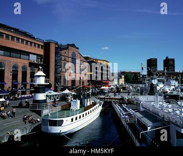 Oslo inner harbour, Norway - Stock Photo