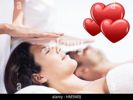 Beautiful woman receiving spa massage - Stock Photo
