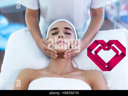 Woman receiving spa - Stock Photo
