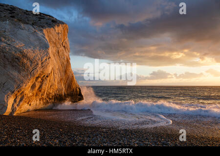 Aphrodite's Rock (Petra tou Romiou), near Paphos, Cyprus - Stock Photo