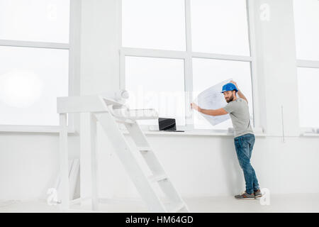 White interior for renovation - Stock Photo