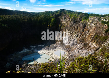 Volcanic caldera of Mount Mahawu in North Sulawesi, Indonesia. - Stock Photo