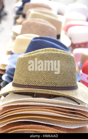 Hats in Cefalu - Stock Photo