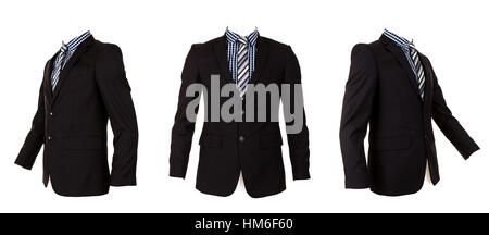 Formal suit isolated on white background - Stock Photo