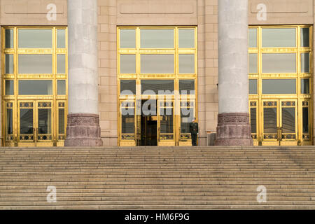 Great Hall of the People, Tian'anmen Square, Beijing, China - Stock Photo