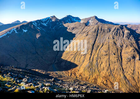 Bidean Nam Bian massif, Glencoe ,Scotland, viewed from Buchaille Etive Beag - Stock Photo