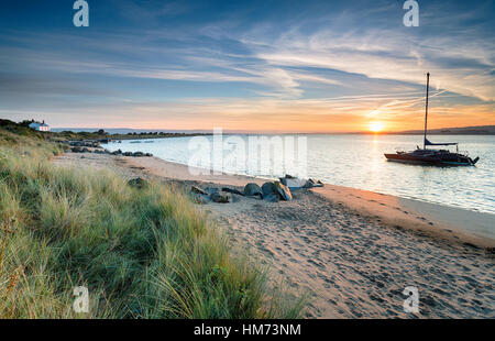 Sunrise over Crow Point near Barnstaple in Devon - Stock Photo