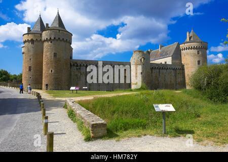Suscinio Castle, Chateau de Suscinio, Sarzeau, Presqu´île de Rhuys, Morbihan, Bretagne, Brittany, France, Europe. - Stock Photo