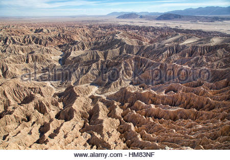Fonts Point, Anza Borrego State Park, California - Stock Photo