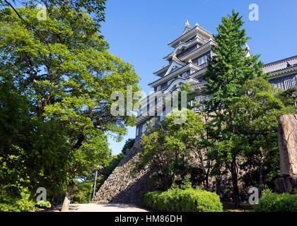 Okayama Castle in Okayama Japan Asia - Stock Photo