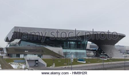 MUNICH – JANUARY 30: BMW Welt building in Munich, Germany - Stock Photo