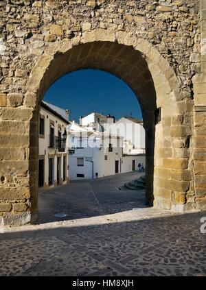 Barbudo door in Baeza. Jaen. Andalucía. Spain. Europe - Stock Photo