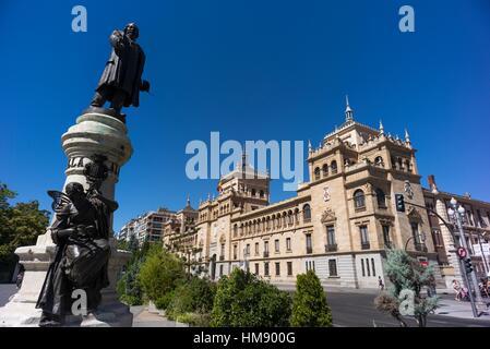 Stock Photo - Spain, Castilla Leon, Valladolid, Plaza Zorrilla, Academia de Caballeria - Stock Photo
