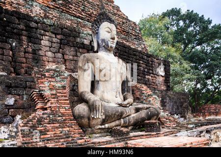 Sitting Buddha in Sukhothai, Thailand, Southeast Asia