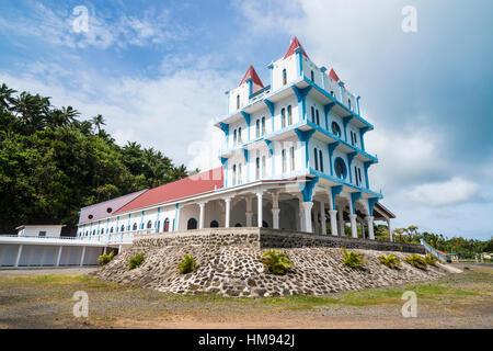 Lausikula church, Wallis, Wallis and Futuna, South Pacific, Pacific - Stock Photo