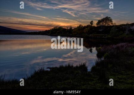 Oak Lough, Sperrin Mountains, County Tyrone, Ulster, Northern Ireland, United Kingdom - Stock Photo