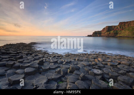 Giant's Causeway, County Antrim, Northern Ireland, United Kingdom - Stock Photo