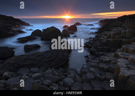 Giant's Causeway, County Antrim, Ulster, Northern Ireland, United Kingdom - Stock Photo