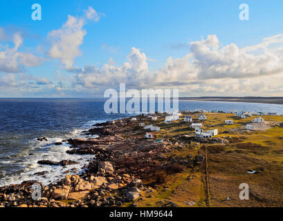 Elevated view of the Cabo Polonio, Rocha Department, Uruguay, South America - Stock Photo