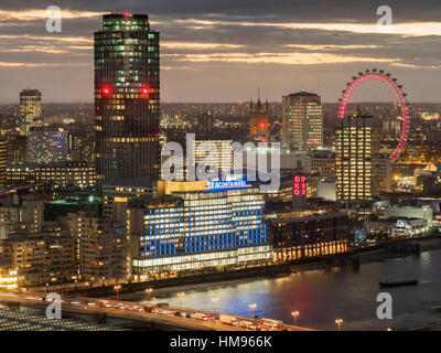 Cityscape from St. Paul's, London, England, United Kingdom - Stock Photo