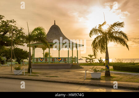 Bandstand and Brownes Beach, Bridgetown, St. Michael, Barbados, West Indies, Caribbean, Central America - Stock Photo