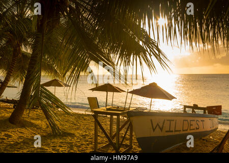 Smugglers Cove Beach, Holetown, St. James, Barbados, West Indies, Caribbean, Central America - Stock Photo