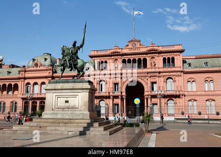 Casa Rosada in Plaza de Mayo, Buenos Aires, Argentina, South America - Stock Photo
