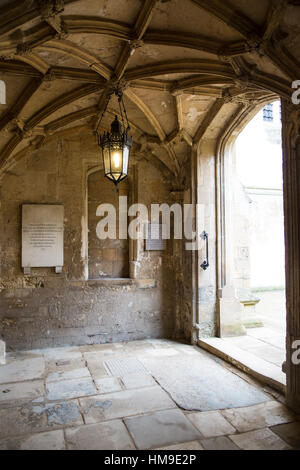 Jesus College Oxford showing details of the architechture - Stock Photo