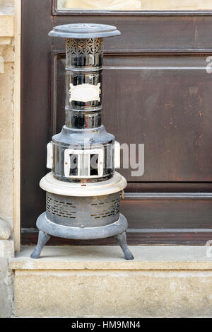 Vintage Kerosene Heater in Old city, Icheri Sheher of Baku. Azerbaijan. - Stock Photo