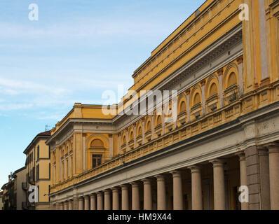 Teatro Coccia theatre, Novara, Piedmont, Italy - Stock Photo
