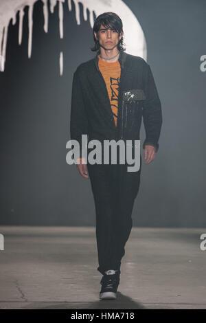 New York, USA. 1st February 2017. Rochambeau Fall Winter 2017 runway at New York Fashion Week Mens. Credit: rudy - Stock Photo