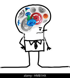 Cartoon big brain man gear and concept stock photo 133008455 alamy cartoon big brain man gear and concept stock photo thecheapjerseys Gallery