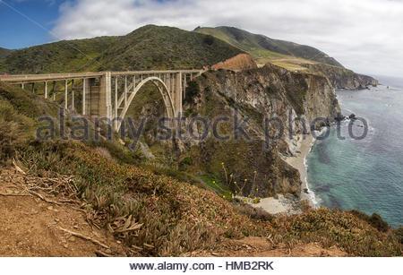 Bixby Bridge, Big Sur, California - Stock Photo