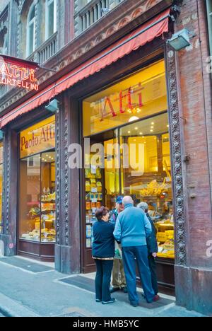 Paolo Atti, grocery store, Via Caprarie, Bologna, Emilia-Romagna, Italy - Stock Photo