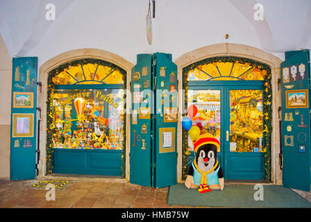 Souvenir shop, Havelska street, old town, Prague, Czech Republic - Stock Photo