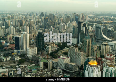 Skyline and cityscape,  Bangkok, Thailand, Asia - Stock Photo