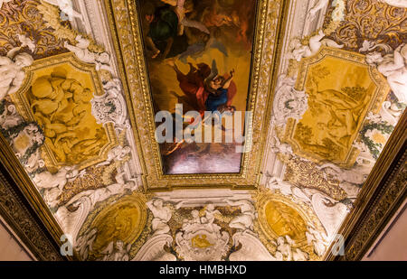 ROME, ITALY, JUNE 13, 2015 : interiors and architectural details of Palazzo Barberini, june 13, 2015, in Rome, Italy - Stock Photo