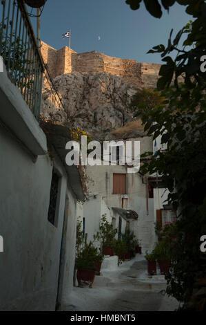 Anafiotika, Plaka, Athens, Greece Stock Photo, Royalty ...