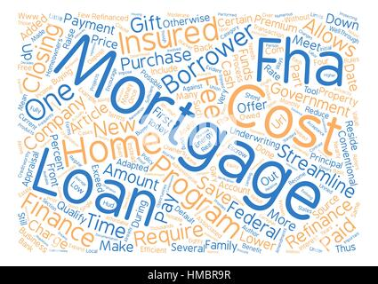 FHA Loans Lower Fees and Raise Acceptance text background word cloud concept - Stock Photo