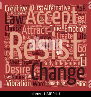 Create Resistance or Creative Acceptance Word Cloud Concept Text Background - Stock Photo