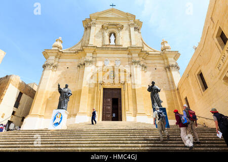 Cathedral of assumption, victoria, rabat, gozo, malta - Stock Photo